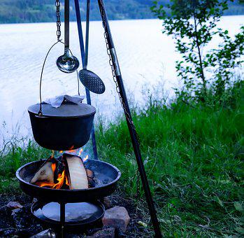 Cooking Outdoors, Nature, Sky, Food, Outdoor, Landscape