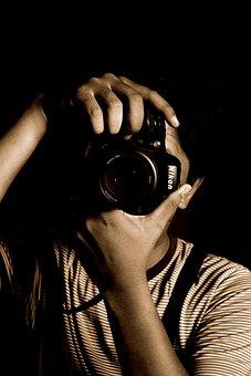 Photographer, Vintage, Portrait, Man, Style, People