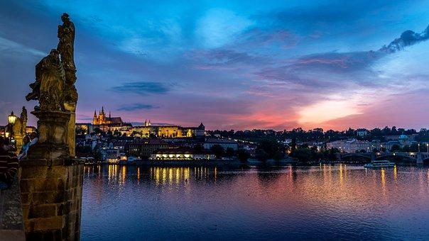 Bridge, Prague, Charles Bridge, River, Praha