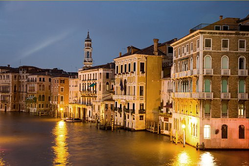 Channel, Venice, Italy, Water, River, Building