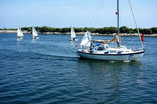 Water, Sailboat, Yacht, Lake, Sailboats, Boat, Rest