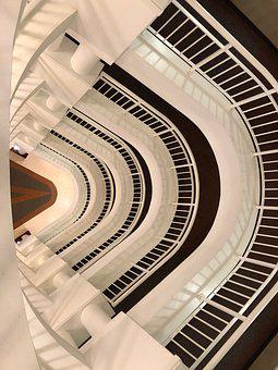 Architecture, Stairs, Staircase, Building, Perspective
