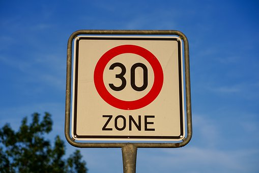 Shield, Street Sign, Zone 30, Directory, Road Sign