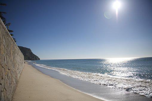 Portugal, Sesimbra, Beach, Sun, Coast