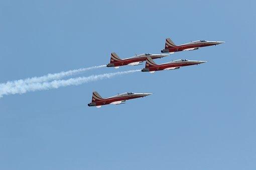 F-5, Tiger, Switzerland, Aircraft, Air Show, Military