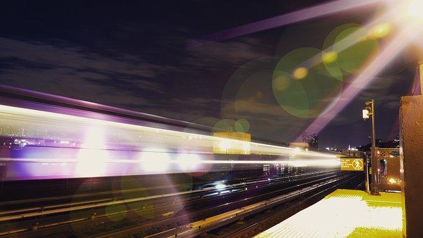 Metro, Urban, New York, Subway, Train, Underground