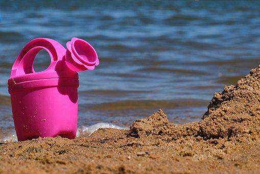Toys, Sea, Children, Beach, Vacations, Summer, Sand