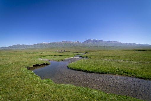 River, Prairie, Sky, Scenery, Outdoor, Tourism, Alpine