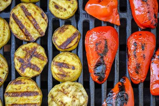 Barbecue, Grilled, Grill, Vegetables, Vegan, Vegetarian