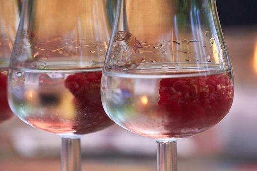 Brandy, Alcohol, Raspberry, Raspberry Spirit, Glass