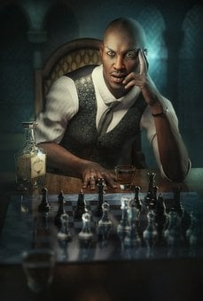 Male, Portrait, People, Chess, Game, Man, Face, Person