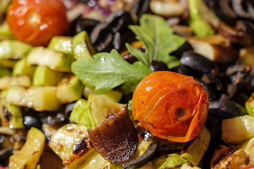 Salad, Mediterranean, Barbecue, Grilled, Grill