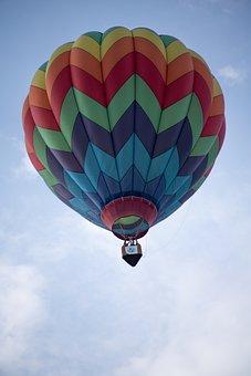Hot Air Balloon, Balloon, Colors, Sky, Flight