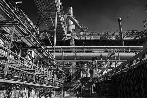 Ironworks, Industry, Factory, Industrial Landscape