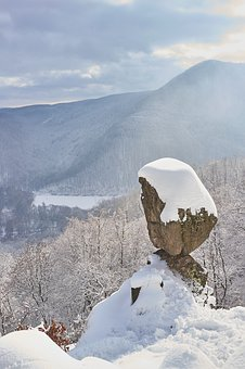Nature, Winter, Snow, Rock, čertova Skala, Slovakia