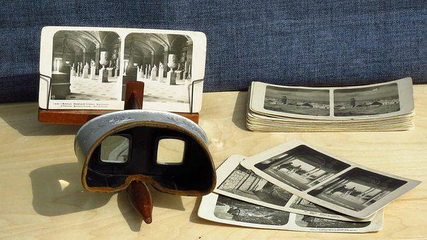 Stereoscope, Stereo Photo, Retro, Photos, Old