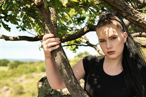 Face, Shadow, Nature, Summer, Portrait, Sunlight, Tree