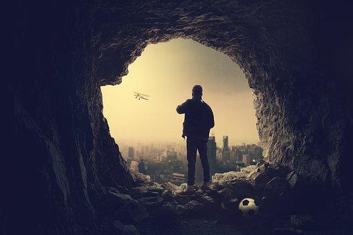 Man, Young, Vision, Success, Look, Promenade, Travel