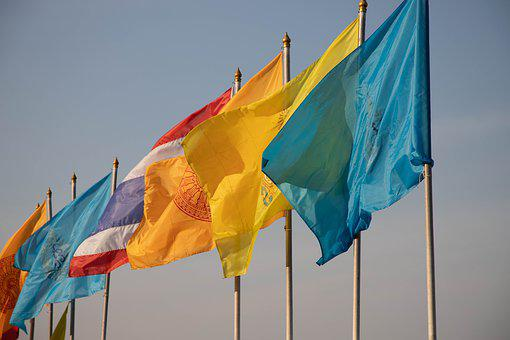 Thailand, Flag, Country, Asia, Thai, Nation, Symbol