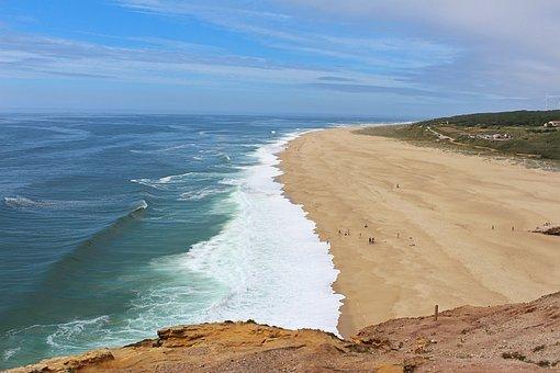 Nazare, Portugal, Coast, North Beach, Wave