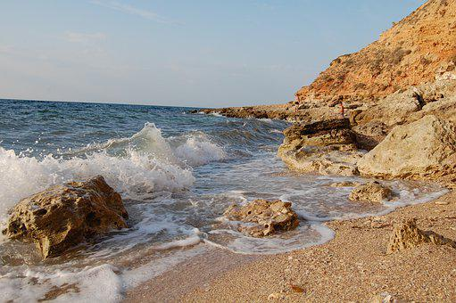 Wave, Water, Sea, Rock, Beach, Sandy, Sand, Summer