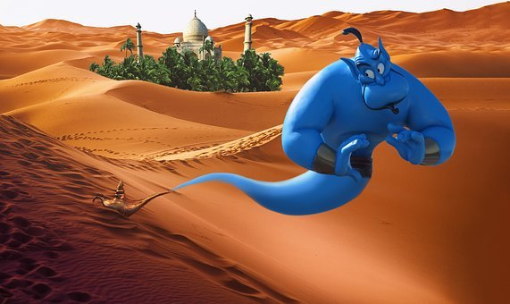 Genie, Wilderness, Aladin, Alladin, Lamp, Palace