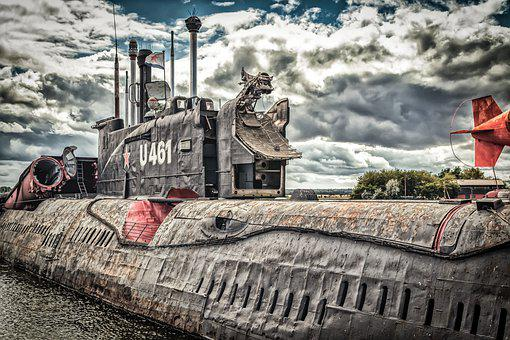 Submarine, Boat, Ship, U Boat, Baltic Sea, Abandoned