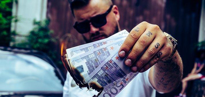 Money, Burn, Finance, Fire, Hot, Gold, Business