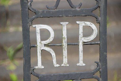 Cemetery, Funeral, Goal, Iron, Inscription