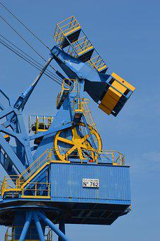 Equipment, Charger Ship, Port, Industry, Port Equipment