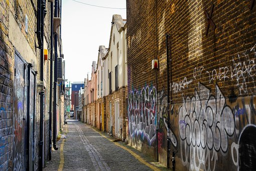 London, England, Alley, City, Architecture, Road