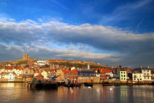 Whitby, Yorkshire, England, Dracula, Coast, Harbour