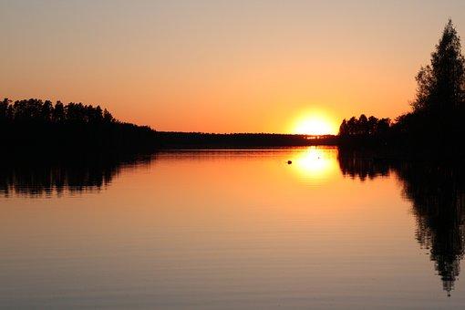 Sunset, Mirror, More, Evening Sky, Reflection, Twilight