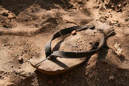 Shoe, Broken, Old, Sandal, Flip Flop, Worn, Dirty
