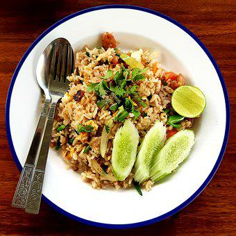 Fried Rice, Food, Lunch, Denner, Meal