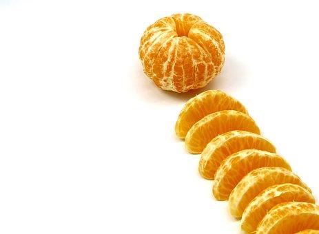 Tangerines, Fruit, Food, Without, Peel, Peeled, Sliced