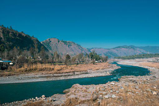 Mountain, River, Travel, Clouds, Forest, Freedom