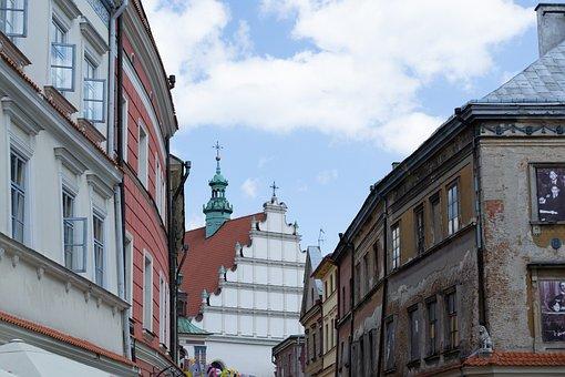 Lublin, City, Street, Poland, Old, Historical, Temple