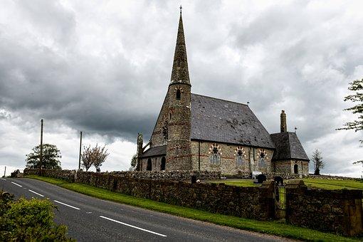Church Of Ireland Ballyclog, Tyrone, Ireland, Clouds