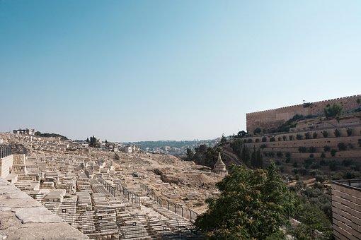 Cemetery, Western Wall, Jerusalem, Israel, Religion