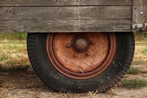 Mature, Wheel, Tires, Vehicle, Trailers, Agriculture