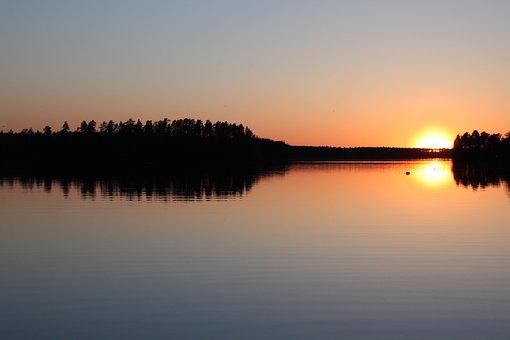 Sunset, Mirror, More, Heaven, Water, Sunrise, Twilight