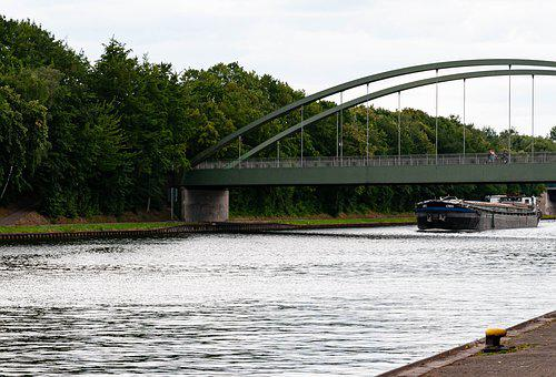 Mittelland Canal, Weser, Peter Hagen, Channel, Ship