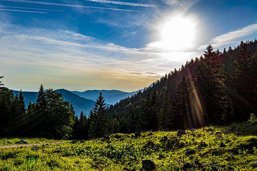 Alpine, Sunrise, Mountains, Nature, Landscape, Sky