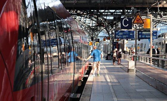 Train, Central Station, Railway Station, Railway