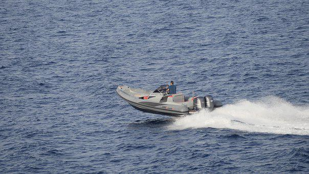 Speed Boat, Cala Ratjada, Sea, Powerboat, Mediterranean