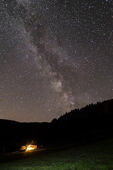 Milky Way, Star, Starry Sky, Galaxy, Cosmos, Sky, Night