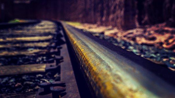 Train Tracks, Western, Railway, Train, Vintage, Tracks