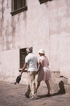 Old Couple, Marriage, Old Man, Clearly, Spacer, Wall