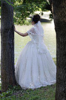 Bride, Woman, Young, Wedding, Event, Dress, White